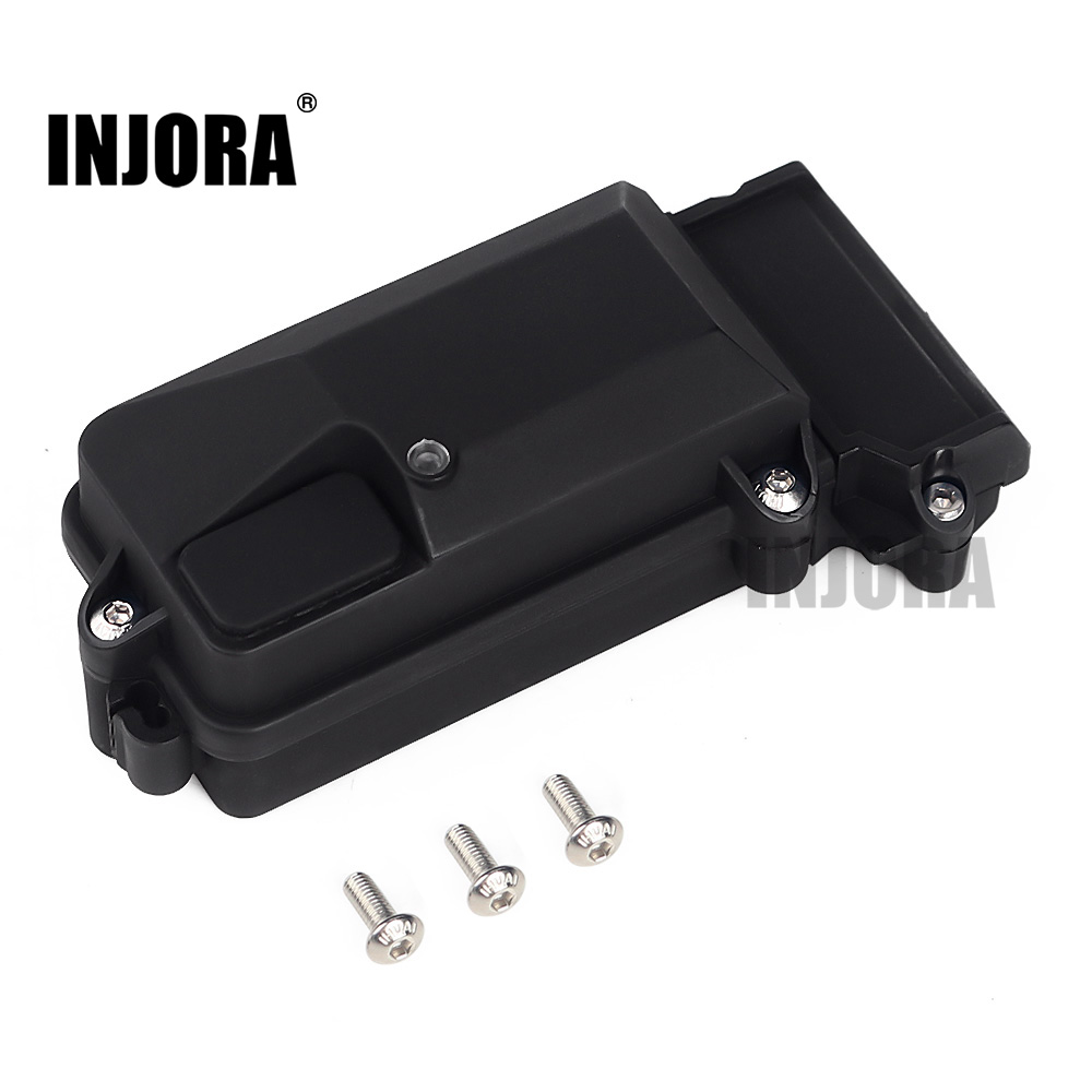 INJORA 1PCS Plastic Waterproof RC Car Radio Device Receiver Box 85*40*28mm For 1/10 Axial SCX10 90046 D90 TRX-4 RC Crawler Car