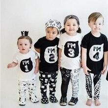 Футболка для мальчиков на день рождения, Рождество, 1, 2, 3, 4, 5 лет, хлопковая футболка, детская одежда, детские футболки, костюм для детей, топы