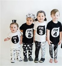 1 2 3 4 5 years Birthday Christmas boy's t shirt cotton t-shirt children's clothing child's tee clothes costume for kids tops(China)