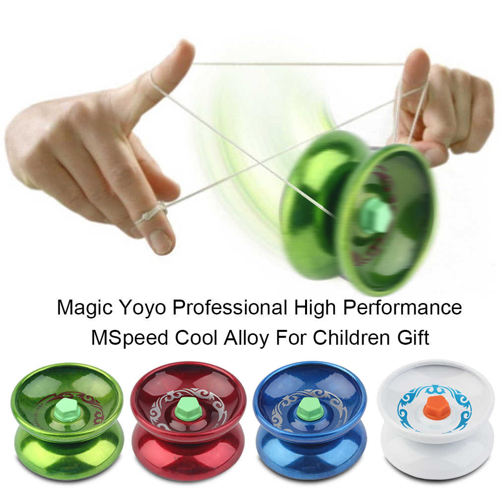 สุ่มสีโลหะผสม Magic YOYO Professional ประสิทธิภาพสูง Speed Cool YOYO สบายเดิน Ball เด็กเกมใหม่มาถึง