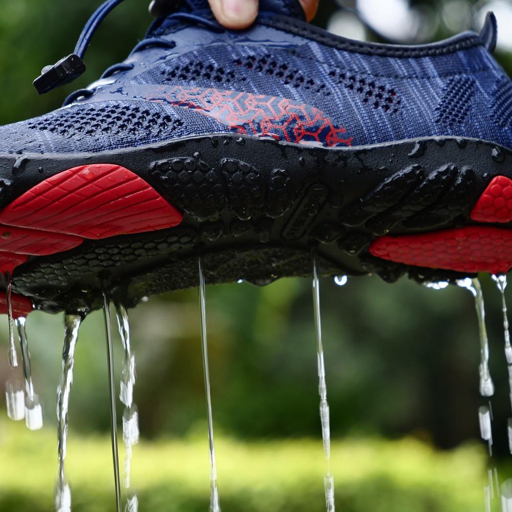 Mulheres sapatos do aqua homem descalço sapatos