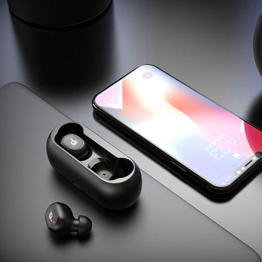 Auriculares TWS, inalámbricos por Bluetooth 5,0, auriculares estéreo de graves con cancelación de ruido y Micrófono dual