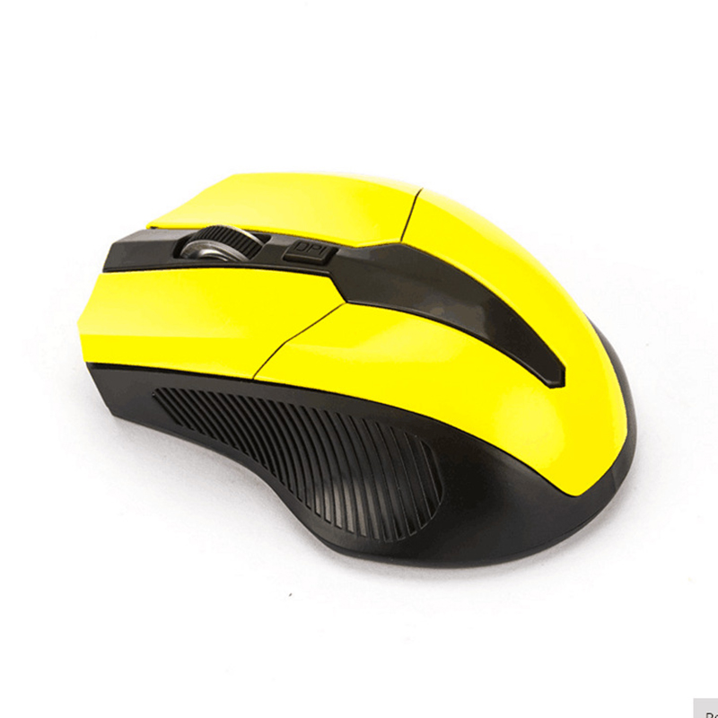 USB Receiver Wireless Optical Gaming Mouse For Laptop Desktop PC ComputerOptional Color: Black/Blue/Red/Yellow (As Pictures Show