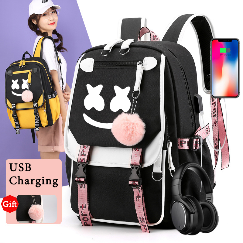 Backpacks Travel-Shoulders-Backpack Luminous Back-To-School-Bags Students with IMIDO