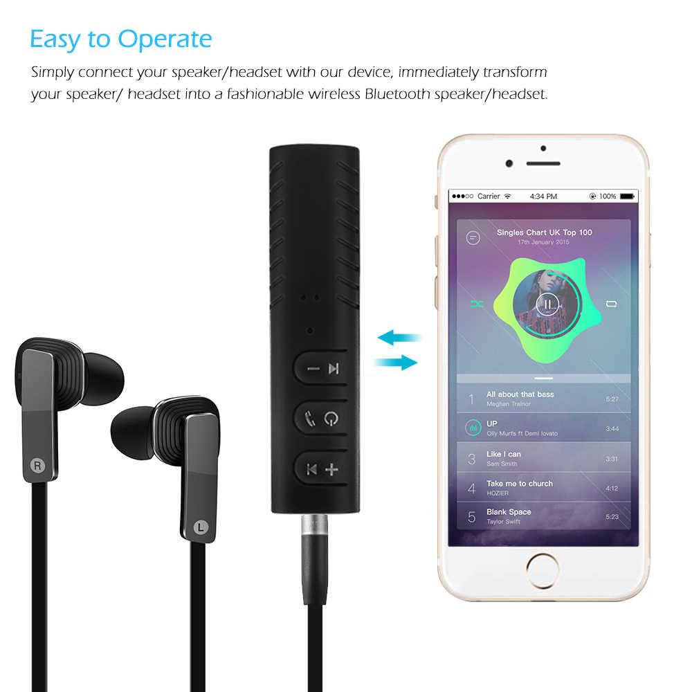 3.5 ミリメートルジャック Bluetooth カーキットのハンズフリー音楽オーディオレシーバーアダプタ自動車 Aux 用スピーカー Bluetooth Aux