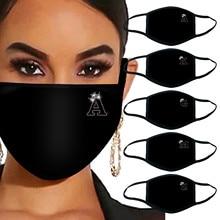 2020 буквы горный хрусталь блестящий персонализированный высокое качество пылезащитный хлопок открытый защита нос и рот товары