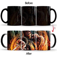 2019 New Mortal Kombat Coffee Magic Mug Hot Cold Color Changing 350ml Ceramic Tea Milk Cup Best Creative Gifts