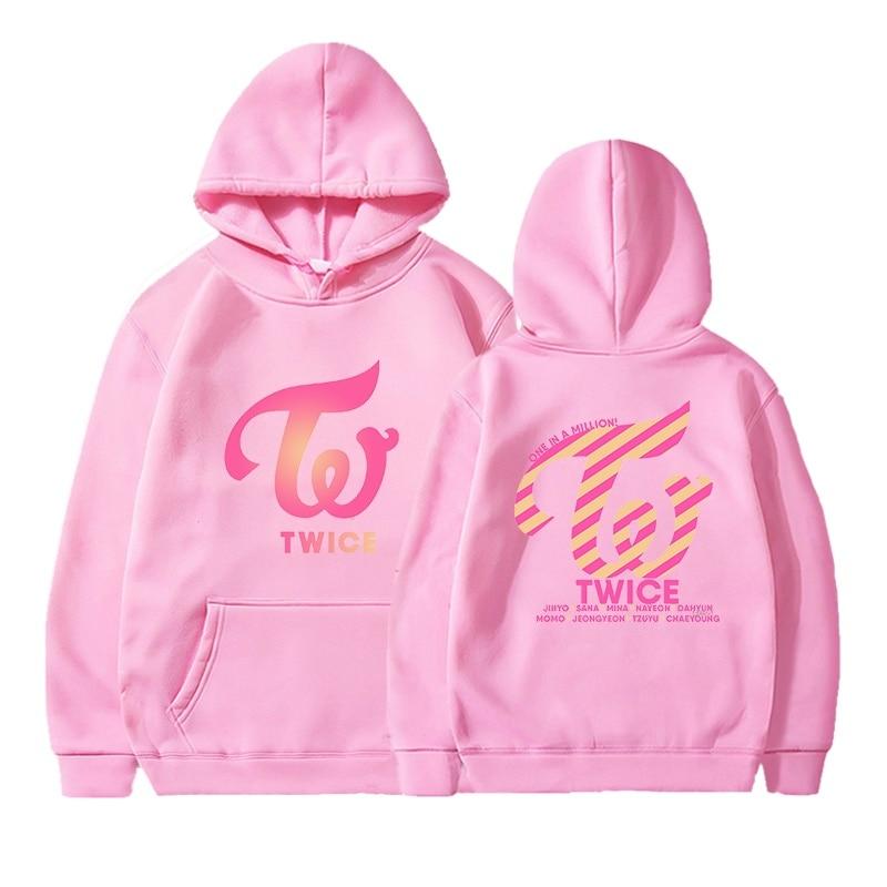 Kpop TWICE Hoodies Sweatshirts Women Men Hoodies Clothes Long Sleeve Hooded Pullover Tops Sweatshirt Streetwear Tracksuit Male 10