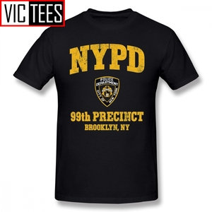Mens Brooklyn Nine Nine T Shirts 99th Precinct Brooklyn NY T-Shirt 100% Cotton Tee Shirt Oversize Men Print Casual Tshirt