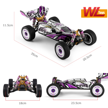 Wltoys 124019 High Speed Racing Car 60km/h 1/12 2.4GHz RC Car Off-Road Drift Car RTR 4WD Aluminum Alloy Chassis Zinc Alloy Gear 4