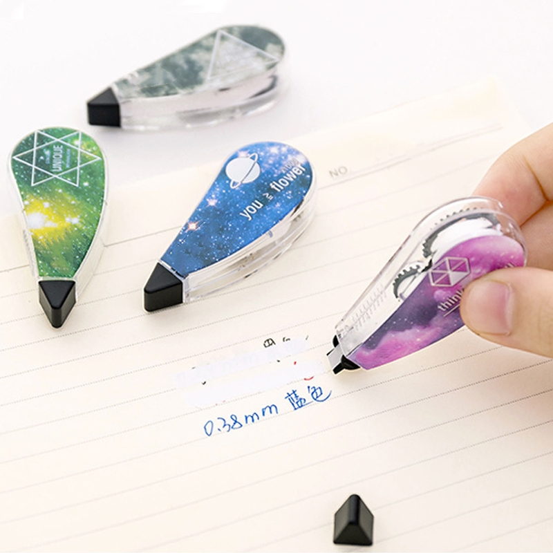 4pcs/set Star Sky Correction Tape Stationery Corrector Student Gift School Supplies