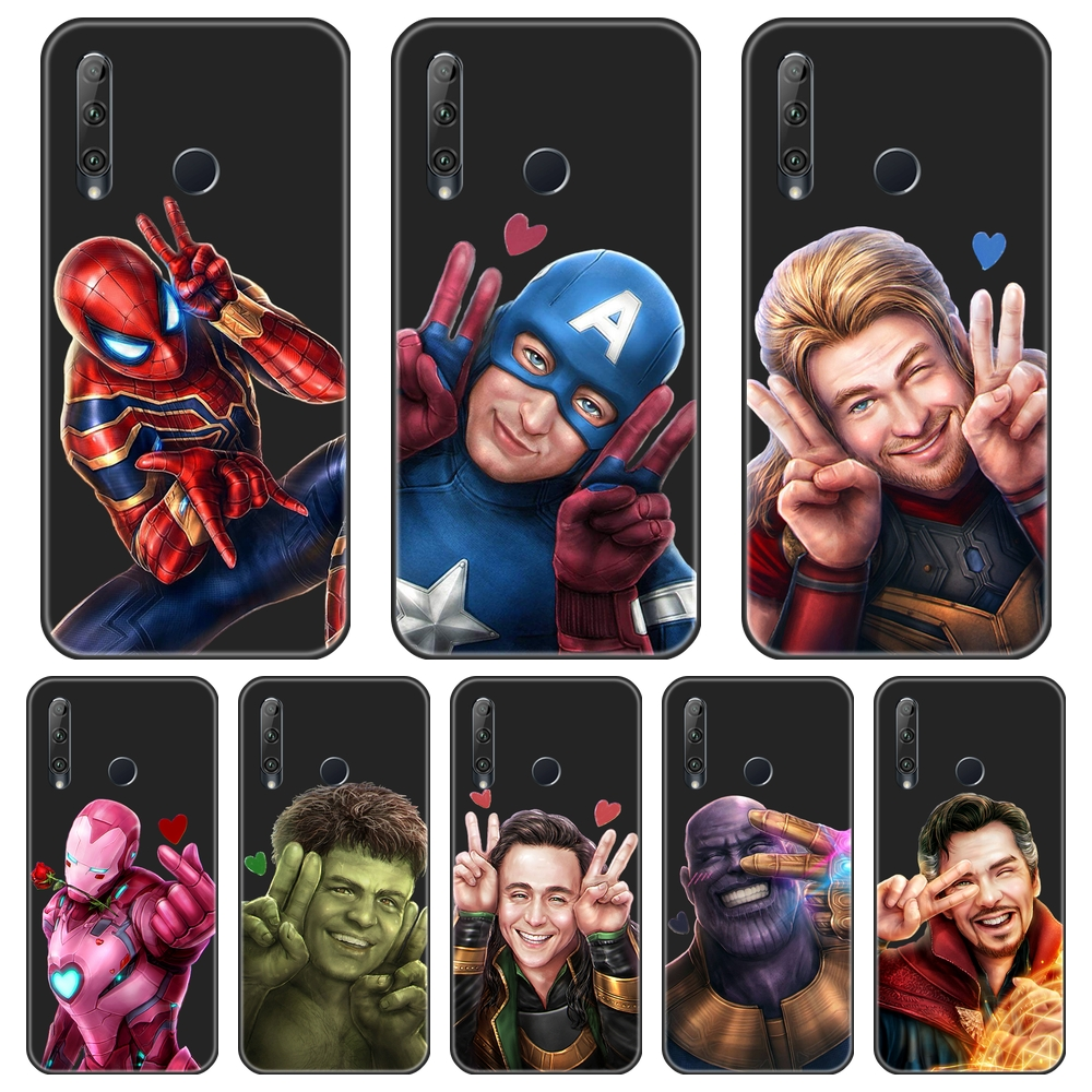 Cute Marvel Iron Man Soft Silicone Phone <font><b>Case</b></font> For Huawei <font><b>Honor</b></font> 8A Pro 8S V20 Back Cover For Huawei <font><b>Honor</b></font> 10i <font><b>20i</b></font> 20 Lite Pro image