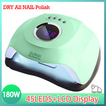 SUN Green M3 Nail Lamp Powerful 180W 45LED UV Lamp Upgrade Auto Nail Gel Dryer Lamp Professional Manicure Lamp