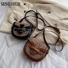 Crossbody-Bag Crocodile Leopard Women Designer Saddle for Ladies Handbags Semicircle