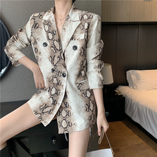 2020 Spring New Women Blazer Fashion Loose Long Sleeve Suit
