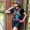 Pro equipe fessional macaquinho ciclismo feminino triathlon de manga curta ciclismo macacão casual wear terno camisa 9