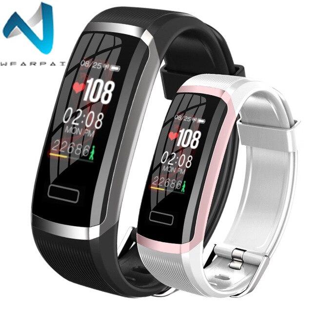Wearpai FitnessTracker SmartWatch Men Women HeartRate Monitor Calories Pedometer waterproof sport wristwatch for Android & IOS