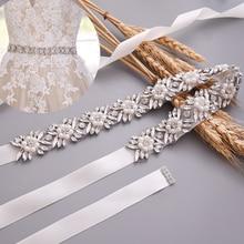 Пояс topqueen s449 со стразами для свадебного платья пояс с