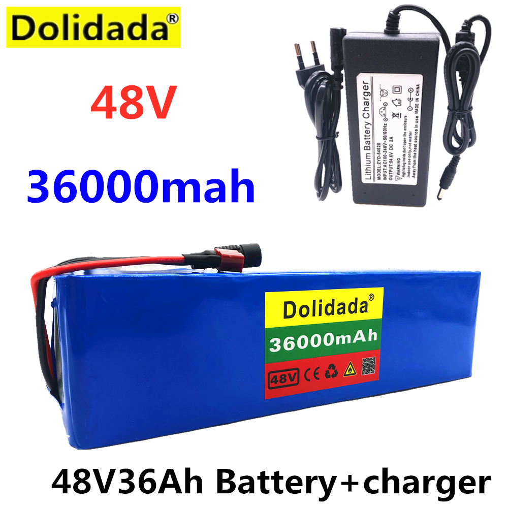 2020 NEW 48V36Ah 1000w 13S3P 48V Lithium ion Battery Pack For 54.6v E bike Electric bicycle Scooter with BMS+Charger Battery Packs    - AliExpress
