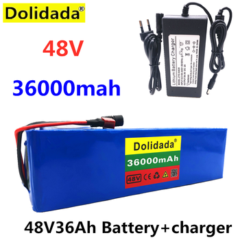 2020 NEW 48V36Ah 1000w 13S3P 48V Lithium ion Battery Pack For 54.6v E-bike Electric bicycle Scooter with BMS+Charger