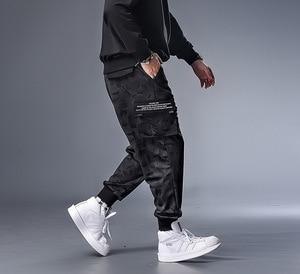 Image 2 - PLUS 7XL XXXXL męskie jesień zima kamuflaż na co dzień Jogger Camo odzież sportowa workowate spodnie haremki spodnie z paskiem spodnie dresowe