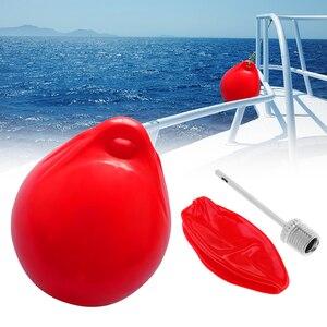 Image 1 - 1 個インフレータブルボートフェンダー 250 × 300 ミリメートル uv 保護に適しボート便利なスカッフィングに対するバッファマウント水平