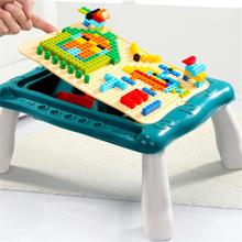 Big Size Compatible Duploed DIY Bricks Building Blocks for Kids Table Desk Base Plate Blocks Study Table for Children Boys Gifts цена 2017