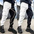Мужские брюки карго, светоотражающие, модные, уличные, стиль, свободный, весна-лето, светильник, уличная мода, одежда в стиле хип-хоп, Беговые ...