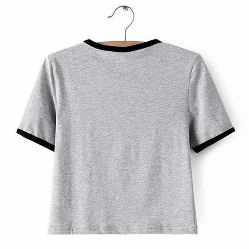 Harajuku Della Stampa Della Banda Alien Divertente T-Shirt Delle Donne di Modo Manica Corta Tee Camicia Hip Hop di Strada Magliette e camicette Femminile Magliette Estate Più Il formato