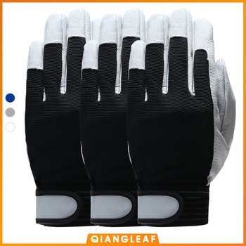 QIANGLEAF 3pcs Hot Sale D Grade Leather Glove Work Gloves Wear-resistant Safety Working Gloves Men Mitten Free Shipping 508 qiangleaf 3pcs new free shipping protection glove d grade cowhide yellow ultrathin leather safety work gloves wholesale 527np