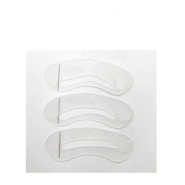 3 Pcs Eyebrow Shaping Stencils Grooming Kit Eyebrow Shaper Set Eye Brow Template Mold Cosmetic Makeup Tools 5
