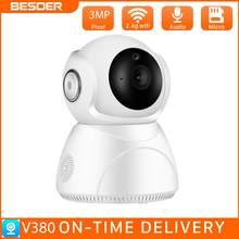BESDER-cámara IP inalámbrica de 3MP con seguimiento por Ia, cámara de seguridad para el hogar con giro panorámico/vertical, visión nocturna, P2P, CCTV, aplicación V380