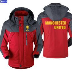 HD Neue Männer Mantel der Manchester Vereinigten Fußball Sport Uniform MÄNNER Sport Jacke Männer Winter Mann Winddicht M8 Casual Cotton5-6-7XL
