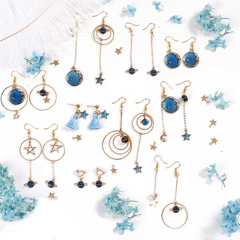 1 Pack Fashion Starry Sky Style Earring Making Findings Can Be Make 10 Pair Earrings DIY Material Accessories