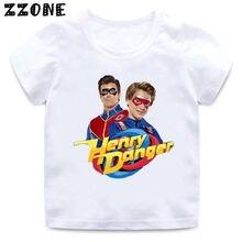 Henry perigo dos desenhos animados crianças t-shirts meninos do bebê casual engraçado t camisa crianças verão streetwear topos meninas roupas, hkp2308