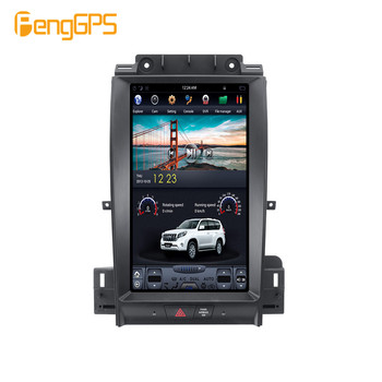 "13.3"" Tesla Style Car Radio Vertical Screen For Ford Taurus 2012-2016 GPS Navigation Tape Recorder Headunit Multimedia Player"