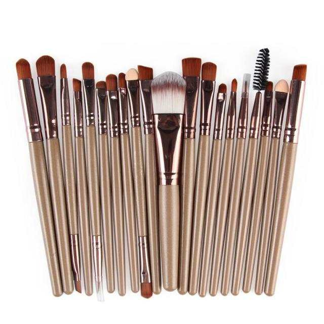 20 Pcs/lot Makeup Brushes Set Eye Shadow Blending Eyeliner Eyelash Eyebrow Brushes For Makeup Brush Cosmetics Beauty Tools TSLM1 5