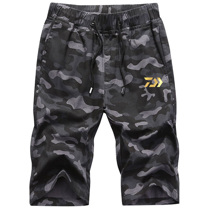 2020 New Daiwa Pants Men Fishing Pants Summer Thermal Solid Multi-pocket Casual Trousers Sport Loose Pants Men Plus Size Shorts