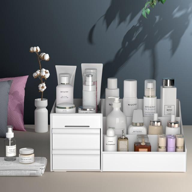 Large Capacity Cosmetic Storage Box Makeup Drawer Organizer for Jewelry Nail Polish 2