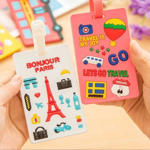 Travel Luggage Tag Case for Suitcase Bags Baggage Silicon Name ID Labels Address Holder Baggage Boarding Tag Portable Label Case