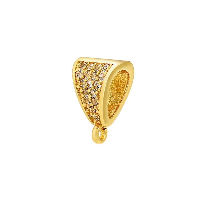 ZHUKOU 8x12 мм кристалл неправильной формы застежка крючки для женщин DIY ручной работы ожерелье серьги ювелирные аксессуары Модель: VK83 - Цвет: gold