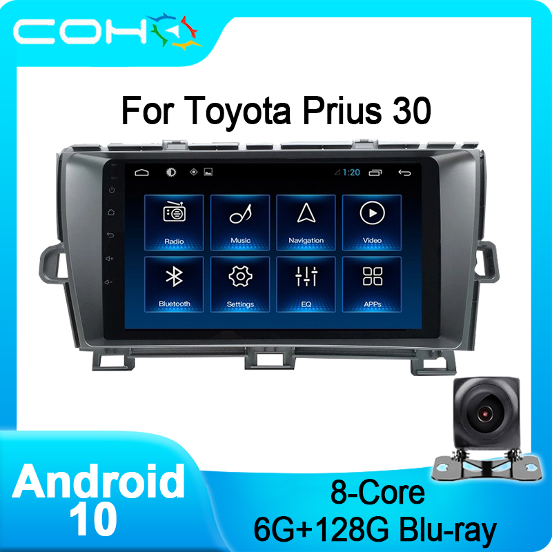 COHO For Toyota Prius 30 Android 10.0 Octa Core 6+128G Gps Navigation Bluetooth Car Stereo