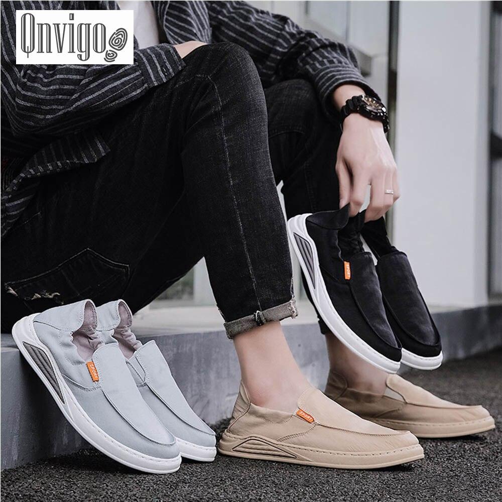 Qnvigo Men Shoes Sneakers Summer Air Mesh Fashion Trending Brown Black Gray Lightweight Walking Sneakers Sport Lightweight Walki