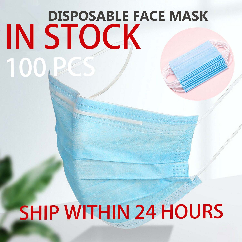 100 шт маски для лица пылезащитный защитный фильтр одноразовые антивирусные 3 слойные мелтдутые спанбонды нетканые для взрослых Маски      АлиЭкспресс