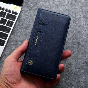 Image 2 - Gizli rotasyon kartları tutucu cüzdan kılıf Samsung S20 Ultra not 10 + 8 9 S8 S9 S10 artı S7 kenar Flip deri telefon kılıfı çapa
