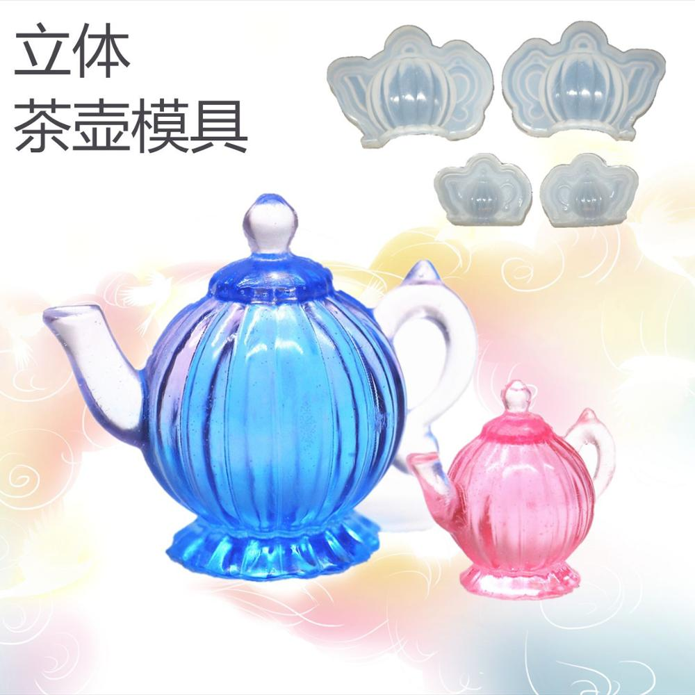 DIY UV Epoxy Resin Mold Mirror Silicone Mold Teapot Stereo Silicone Mold For Resin