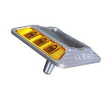 6 шт. СВЕТОДИОДНЫЙ Алюминиевый Солнечный дорожный стержень с хвостовиком, мигающий светодиодный светильник