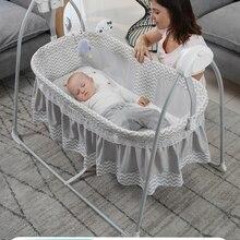 Rocking-Bed Electric-Cradle Shake Music-Bebe Newborn Baby Basket with 0-36 Intelligent-Swing