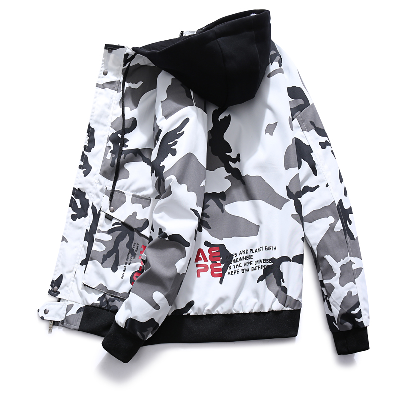 2019 New Spring Men Camo Military Jacket Wind Bomber Mens Camouflage Hip Hop Jackets And Coats For Male
