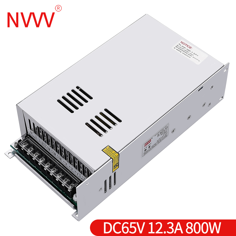 NVVV Switching Power Supply 800w 65v 12.3a AC 110/220V to DC 12v 24v 36v 48v Source Transformer Converter for RD6018